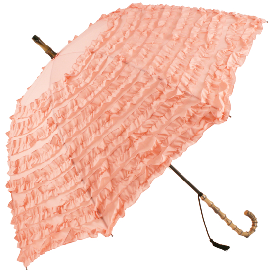FiFi Frilly Walking Length Umbrella - Pink