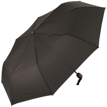Soake Gents Manual Folding Umbrella with Brown Wooden Handle