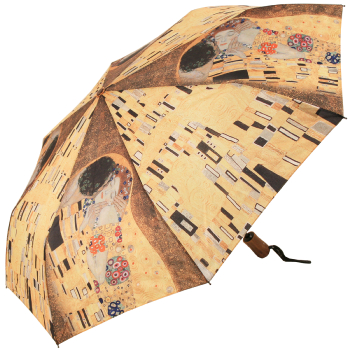 Galleria Art Print Auto Open & Close Folding Umbrella - Klimt 'The Kiss'