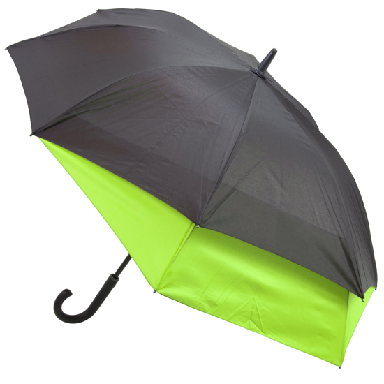 Valentino 'Stretch' Vented Two-Person Umbrella - Black & Green