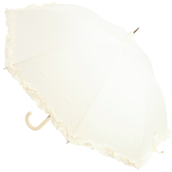 Amore Frilled Umbrella - Ivory