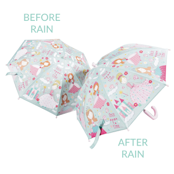 Colour Changing Childrens Umbrella - Pretty Princess