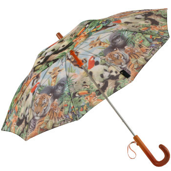 Galleria Kids Jungle Wildlife Umbrella