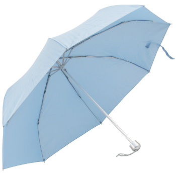 Mini Colours - Plain Coloured Folding Umbrella - Powder Blue