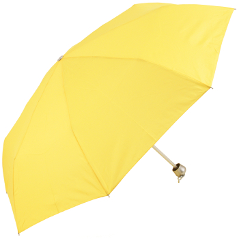Mini Colours - Plain Coloured Folding Umbrella - Yellow