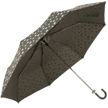 Grey Folding Umbrella with White Spots by Molly Marais