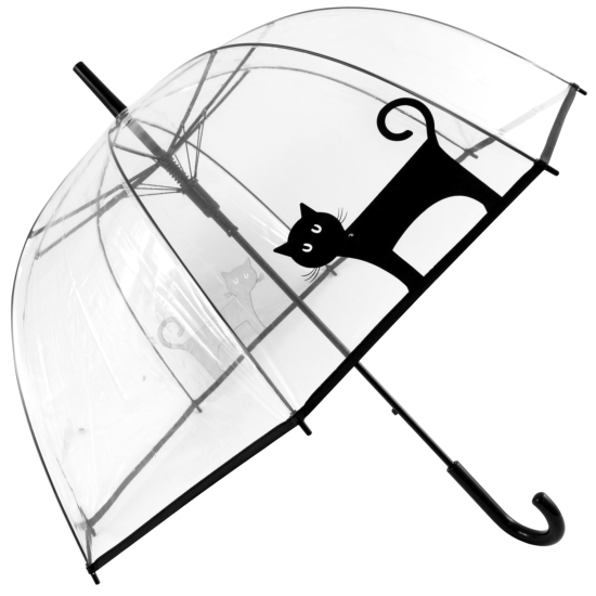 Clear See-Through Dome Umbrella - Lucky Cat