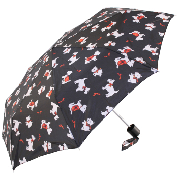 Incognito-4 Manual Folding Umbrella Scotty Dogs