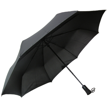 Fulton Jumbo Open & Close Folding Golf Umbrella - Black