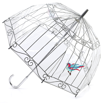 Lulu Guinness Birdcage Clear Umbrella