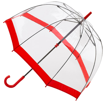 Fulton Birdcage Umbrella - Red Trim