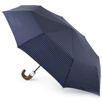 Fulton Chelsea Automatic Folding Umbrella - City Stripe Navy/Cloud