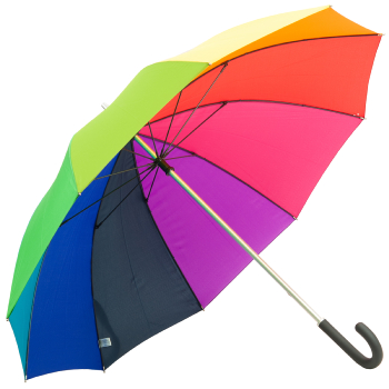 Windfighter Performance Rainbow Walking Length Umbrella