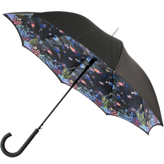 Fulton Bloomsbury Double Canopy Umbrella - Under The Sea
