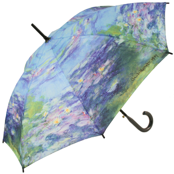 Galleria Art Print Walking Length Umbrella - Water Lillies by Monet