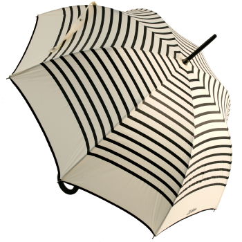 Rayes Navy Blue and Cream Umbrella by Jean Paul Gaultier