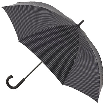Fulton Knightsbridge Gents Umbrella - City Stripe Black/Steel
