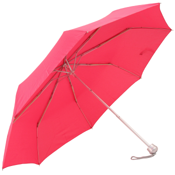 Mini Colours - Plain Coloured Folding Umbrella - Fuchsia