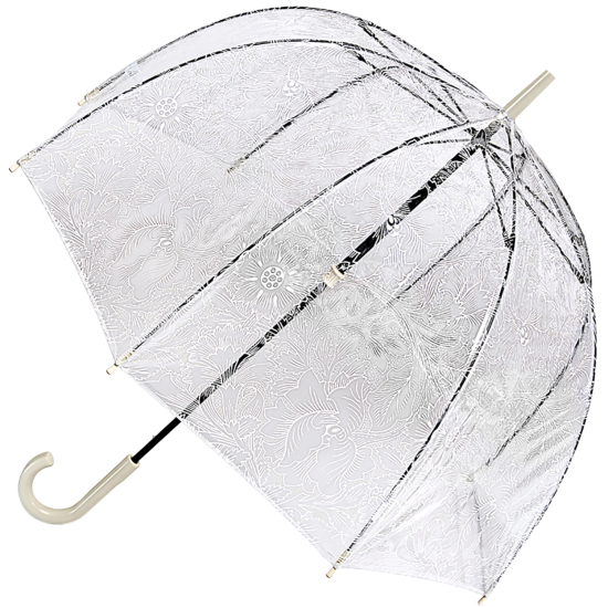 Morris & Co Birdcage - Pure Poppy - PVC Dome Umbrella
