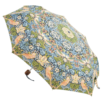 Morris & Co Minilite - Lightweight Folding Umbrella - Strawberry Thief