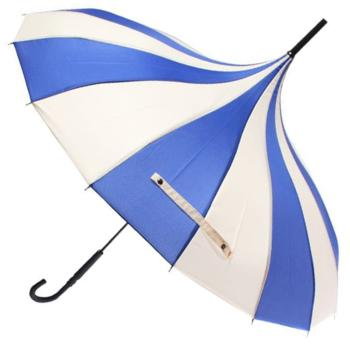 Classic Pagoda Umbrella from Soake - Blue & Cream