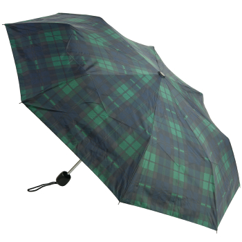 Tartan Mini Umbrella - Green/Navy (Black Watch)