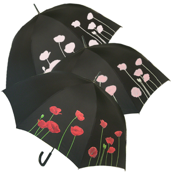 Colour Changing Poppy Automatic Umbrella