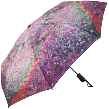 Galleria Art Print Auto Open & Close Folding Umbrella - Garden by Monet