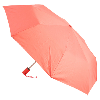 UV Protection SPF50+ Auto Open Folding Umbrella - Coral