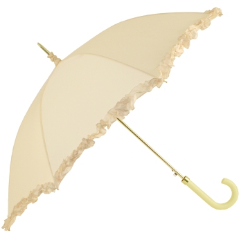 Amore Frilled Umbrella - Cream