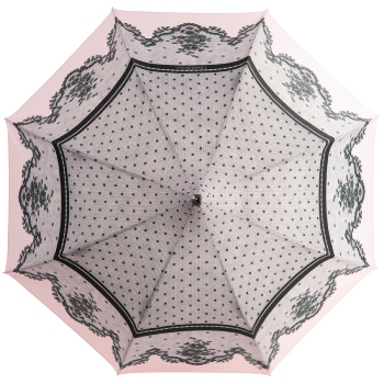 Dentelle Blush Pink Lace Print Umbrella by Chantal Thomass