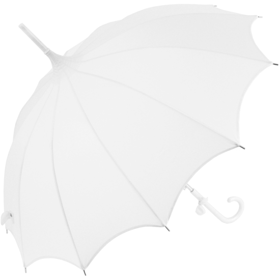 Lily Scalloped White Pagoda Umbrella by Chrysalin