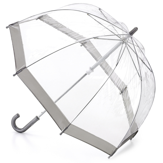 Fulton Funbrella Birdcage - Silver - Clear Umbrella for Children