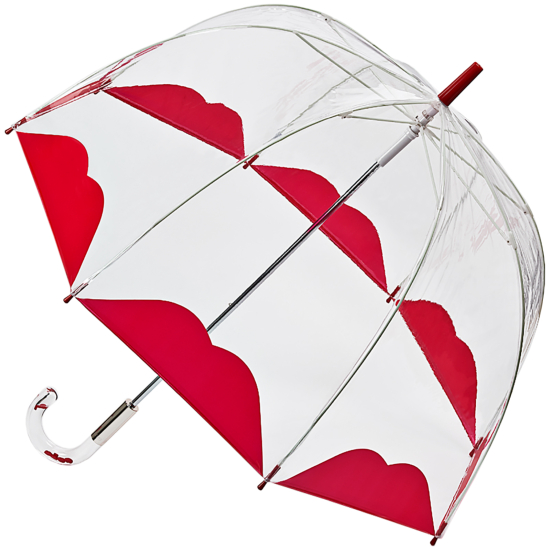Lulu Guinness Birdcage - Half Lip - PVC Dome Umbrella