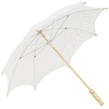 Kitty Lace Parasol for Children in White