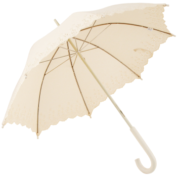 Soake Cream Embroidery Parasol with Anglaise Border