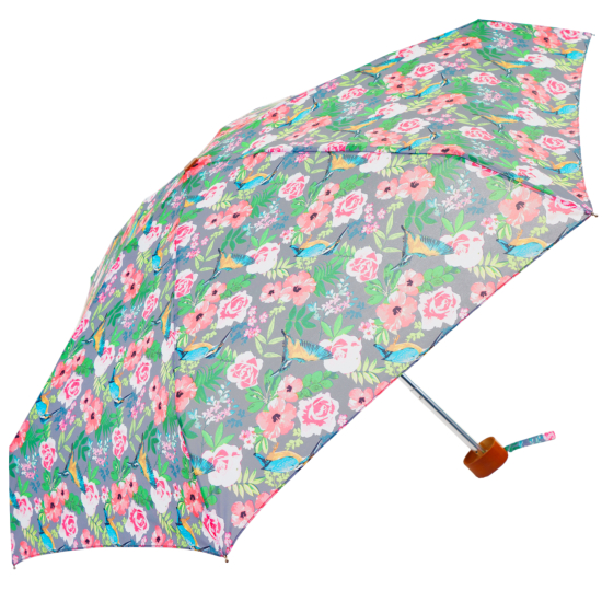 Susino Mini Folding Umbrella - Vintage Kingfisher Floral