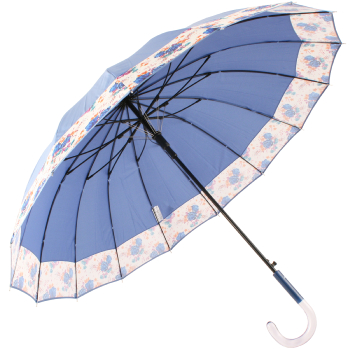 Summer Floral Bouquet 16 Rib Umbrella by Cachemir - Blue