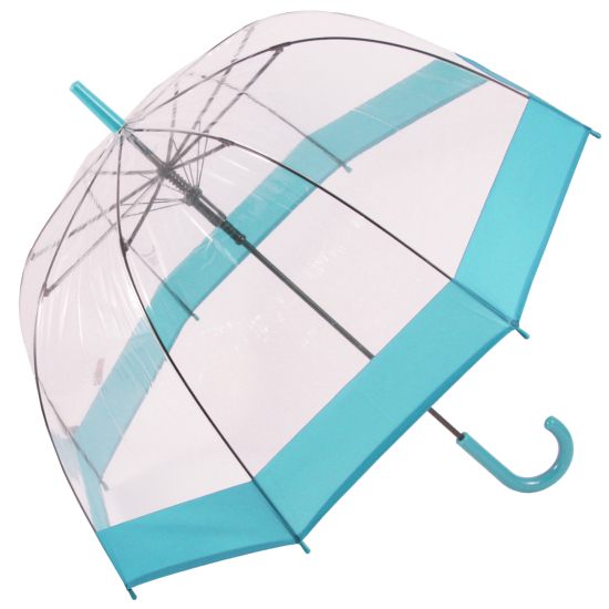 Soake Clear Dome Umbrella - Aqua Blue
