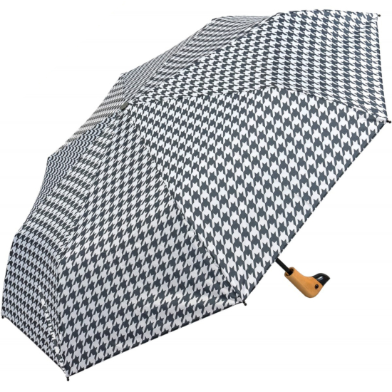 Susino Duck Black & White Folding Umbrella - Houndstooth