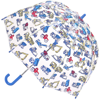Cath Kidston Clear Dome Funbrella for Children - Trucks & Diggers