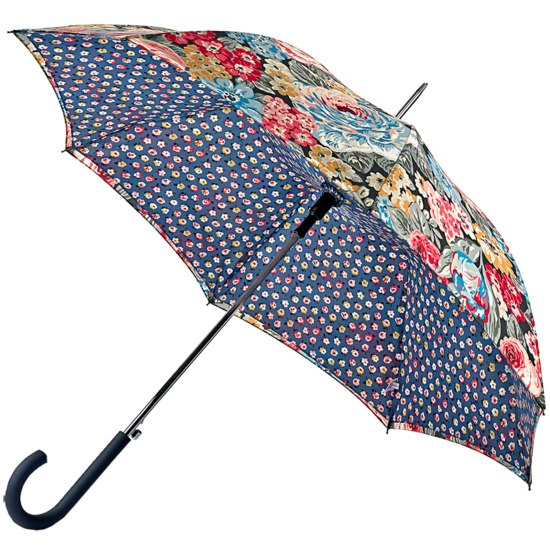 Cath Kidston Bloomsbury Double Canopy Umbrella - Orchard Bloom Charcoal