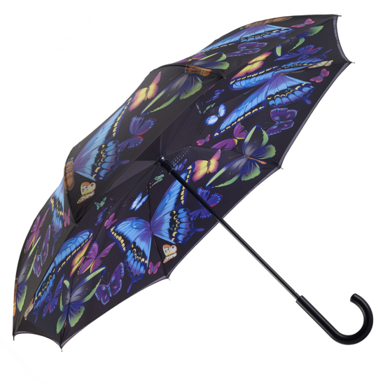 Galleria Art Print Reverse Umbrella - Moonlight Butterfly