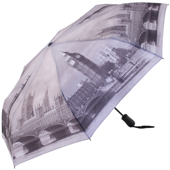 Galleria Art Print Auto Open & Close Folding Umbrella - London