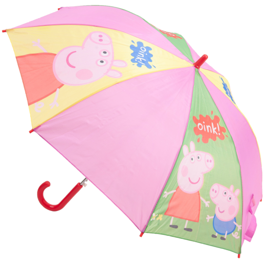 Peppa Pig Children's Umbrella - Green, Yellow & Pink
