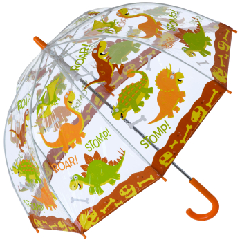 Bugzz PVC Dome Umbrella for Children (New Design) - Roaring Stomping Dinosaurs