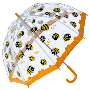 Bugzz PVC Dome Umbrella for Children (New Design) - Busy Bee
