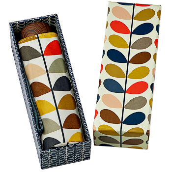 Orla Kiely Microslim Folding Umbrella & Gift Box - Multi Stem