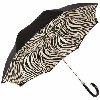Glamour Zebra Black & White Luxury Double Canopy Umbrella by Pasotti