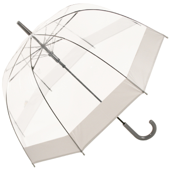 Soake Clear Dome Umbrella - Grey